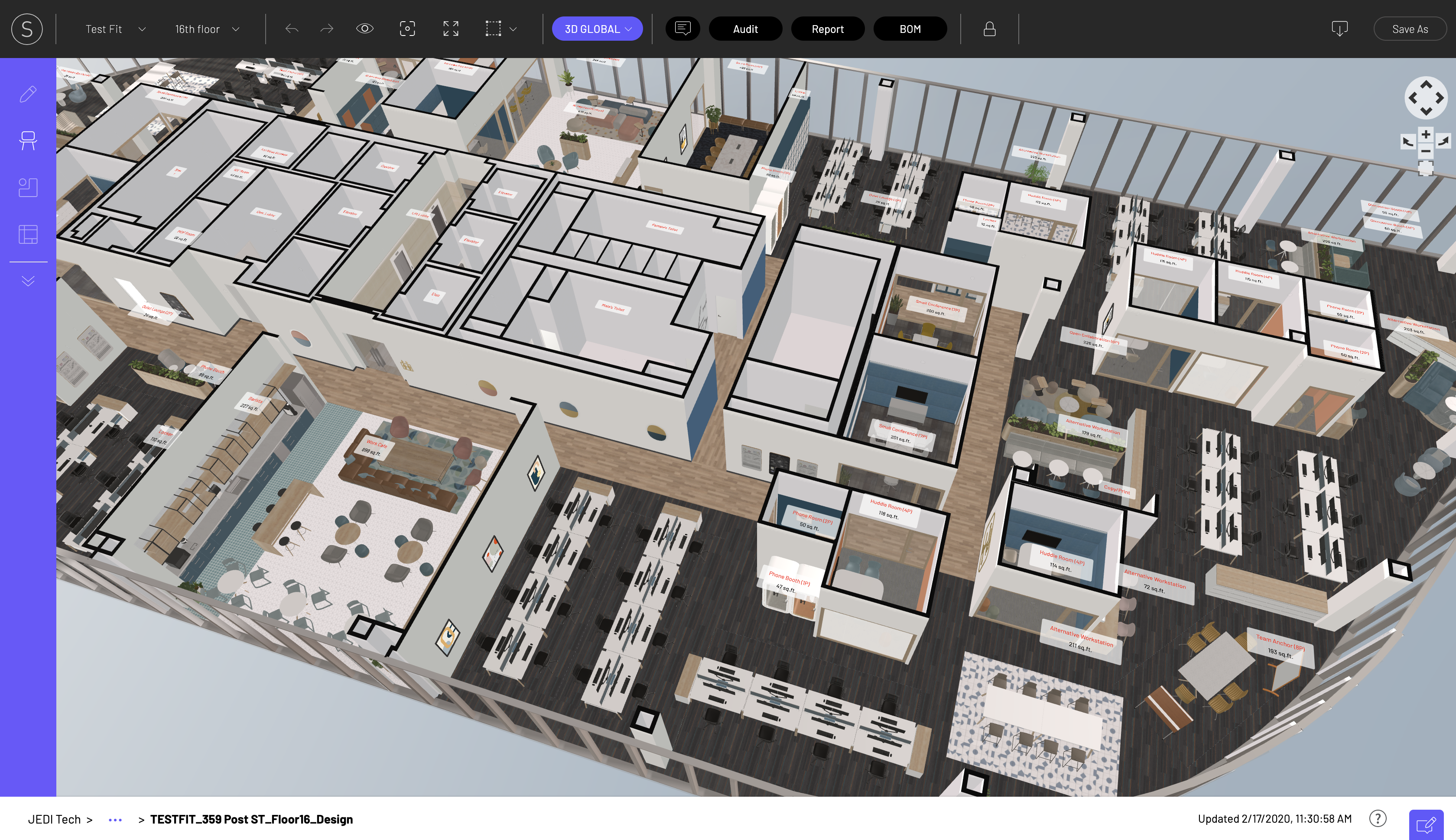 3D Global View